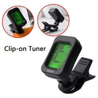 LCD CLIP ON CHROMATIC ACOUSTIC ELECTRIC GUITAR BASS TUNER BANJO UKULELE Y4D6