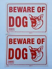 "2 Warning Signs  Beware of dog German Shepherd dog 9""x12"""