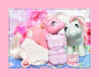 ❤️My Little Pony MLP G1 Vtg 1985 Baby Cuddles & Baby Tiddly Winks Brush Diaper❤️