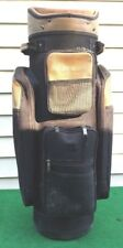 Lightly Used Large Size Pro Select Golf Cart Bag With Cover, Black & Tan Colors