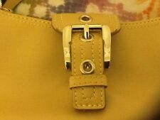 Small Barely Used Beige Light Yellow Nine West Essentials Slim Baguette Purse
