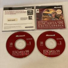Microsoft ENCARTA 98 Encyclopedia, Multimedia 2 CD Set Windows 95 Manual
