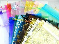 """Cute 50pcs 7*9"""" Organza Wedding Favor Pouches Yarn Bag Gift Jewelry Packing Bags"""