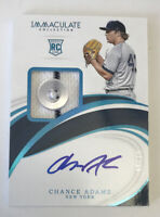 2019 Immaculate CHANCE ADAMS RPA Jersey Button Auto #08/10 New York YANKEES