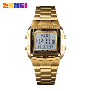 SKMEI Men's Watch Waterproof Business Digital Wristwatch Stainless Steel 1381 5