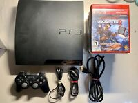 Sony Playstation 3 PS3 Slim 320GB CECH-3001B Console System Bundle Lot TESTED