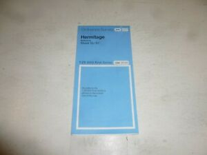 HERMITAGE Bershire - Sheet SU 57 - Ordnance Survvey / O/S Map - Scale 1:25,000