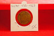 SUECIA MONEDA DE 1KR 1947 - OLD SVERIGE COIN