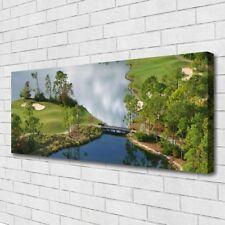 Leinwand-Bilder Wandbild Canvas Kunstdruck 125x50 See Natur