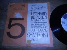 "LEONARD BERNSTEIN ""HOW A GREAT SYMPHONY WAS WRITTEN"" 33 RPM PROMO SINGLE CBS OOP"