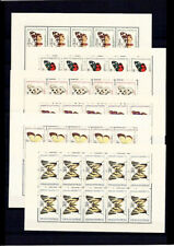 CSEKOSLOVAKIA 1968 - BUTTERFLIES,  SET OF MNH STAMPS IN SHEETS, Mi CV - 130 Euro