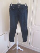 VGC TRUE RELIGION DARK BLUE SECTION CASEY SKINNY STRETCHY JEANS SIZE 27  L29
