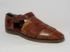 Cole Haan Country Woven Brown Leather Ankle Strap Sandal Driving Shoes Mens 9 M