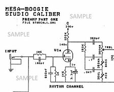 Mesa Boogie Studio Caliber DC2 Tube Amplifier Electronic Circuit Diagram Schemat