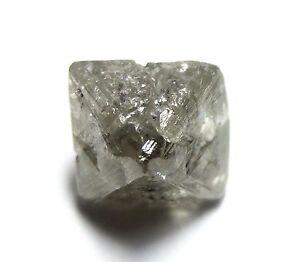 3.44 Karat Einzigartig Uncut Gemmy Raw Grobem Diamant Oktaeder
