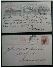 Rare 1894 Tasmania Australia International Exhibitn Official Souvenir Card Used