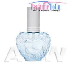 NEW EMPTY REFILLABLE GLASS SPRAY BOTTLE Travel Perfume Atomizer * Sky Blue Heart