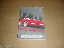 1990 Chevrolet Corvette owners manual REPRINT literature book guide