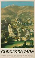 Affiche Originale - Rohner - Gorges du Tarn - Lozère - Aveyron -Surréaliste 1951