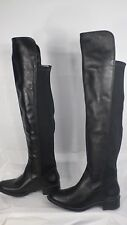 Andre Assous 'Stagecoach' Black Waterproof Leather Over-the-Knee Boot Size 36/6M