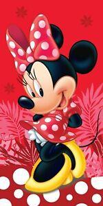 Disney Minne Mouse Red Spots Girls Beach Towel 100% Cotton