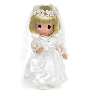 """Precious Moments Doll BLONDE My First Communion 12"""" Doll"""