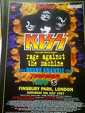 Kaos in the Park 1997 Kiss Ratm Skunk Thunder L7 Kerrang 1 Page Poster to frame