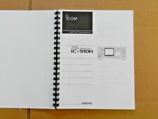 ICOM IC-910H Instruction Manual On Heavy Paper w / Heavier Covers + Ad Sheet.