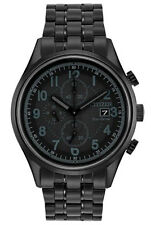 Citizen CA0625-55E Men's Eco Drive Chandler Black Ion Plated Chronograph Watch
