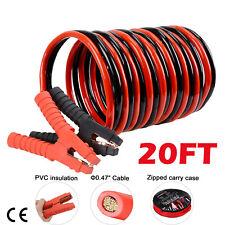 1200AMP 1 Gauge Booster Cables 20FT Power Start Jumper Heavy Duty Car Van