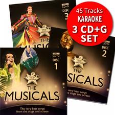 More details for karaoke hits - the musicals broadway & film triple cd+g/cdg disc set 45 tracks