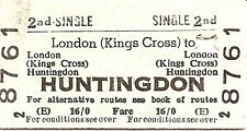B.R.B. Edmondson Ticket - London Kings Cross to Huntingdon