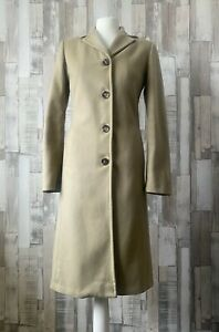 Vintage Beige Camel Long Coat Size 10