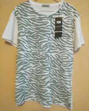 Onitsuka Tiger print Asics Mens XL White/Gray Cotton Crew T-Shirt.