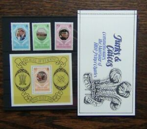 Turks & Caicos Islands 1981 Royal Wedding set Miniature Sheet Booklet MNH