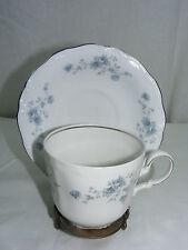 Vintage Johann Haviland China Bavaria Germany Blue Garland Flat Cup & Saucer Set