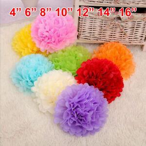 10 x Tissue Paper Pom Poms Flower Balls Wedding Party Home Decoration Pompoms