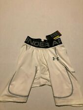 Under Armour Men's 6-Pad Football Girdle, White Small Nwt* Stain
