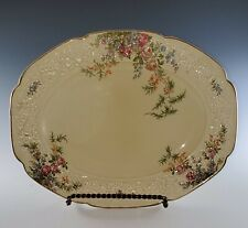 CROWN Ducal ENGLAND Florentine Rosalie OVAL PLATTER or TRAY Excellent