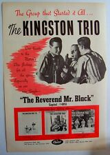 THE KINGSTON TRIO 1963 Poster Ad THE REVEREND MR. BLACK