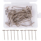 "New Metal 38mm/1.50"" T Pins For Modelling Macrame Wigs Sewing DIY Tool 50x"