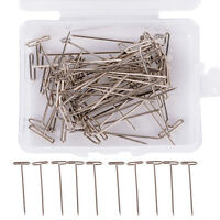 "50 Pcs DIY Metal 38mm/1.50"" T Pins For Modelling Macrame Wigs Sewing Craft  Pop"