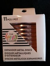 The Happy Planner Expander Rose Gold 11 Metal Discs Heart Cut Out Middle 1 34