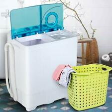 Portable Washing Machine Twin Tub w/ Drain Pump Compact Laundry Dryer 26LBS