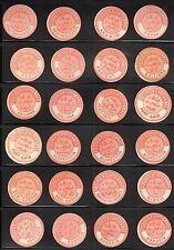 EGYPT 1870-1880 COLLECTION OF 144 OFFICIAL INTERPOSTAL SEALS MANY SCARCE SOME
