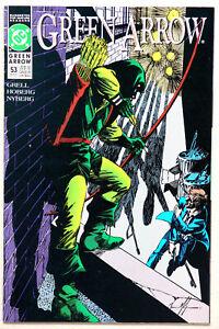 Green Arrow #53 Vol 2 - DC Comics - Mike Grell - Rick Hoberg