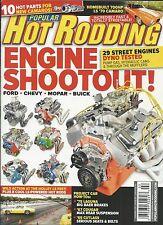 Popular Hot Rodding magazine Engine shootout Ford Chevy Mopar Buick Camaro parts