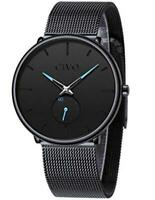 CIVO Mens Black Ultra Thin Watch Minimalist Fashion Luxury Wrist 1