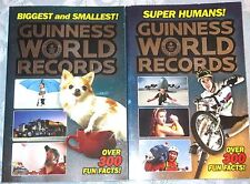 LOT 2 New 2016 GUINNESS WORLD RECORDS Books SUPER HUMAN Feats BIGGEST & SMALLEST