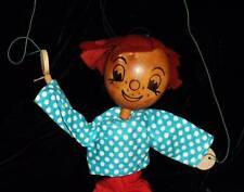 Vintage Pelham Puppets Red Haired Boy Wood Puppet Doll